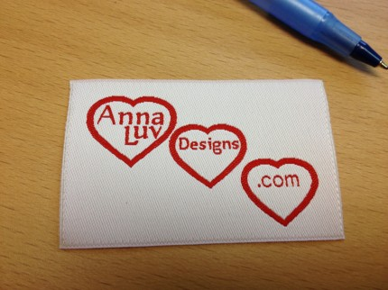 Anna Luv Designs .com fabric tag