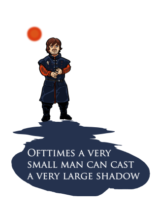 Small Man, Large Shadow - Colour